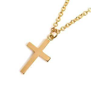 Gucci GUCCI Cross Necklace K18YG Women's Pendant Jewelry Finished
