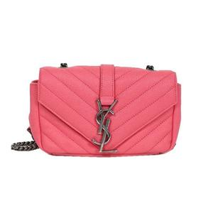 Saint Laurent SAINT LAURENT Baby chai 399289 Caviar skin pink shoulder bag