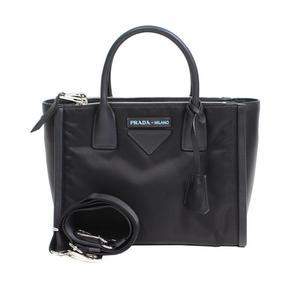 Prada PRADA concept bag 1BA175 black nylon leather handbags women