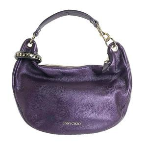 Jimmy Choo JIMMY CHOO Sky One Shoulder Bag Metallic Purple Leather Women