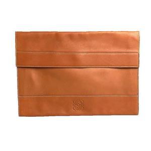 Loewe LOEWE Anagram Clutch Bag Leather Brown Men's Women