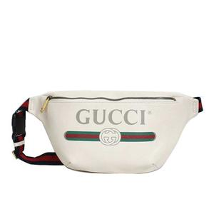Gucci GUCCI Leather Belt Bag 530412 White Men