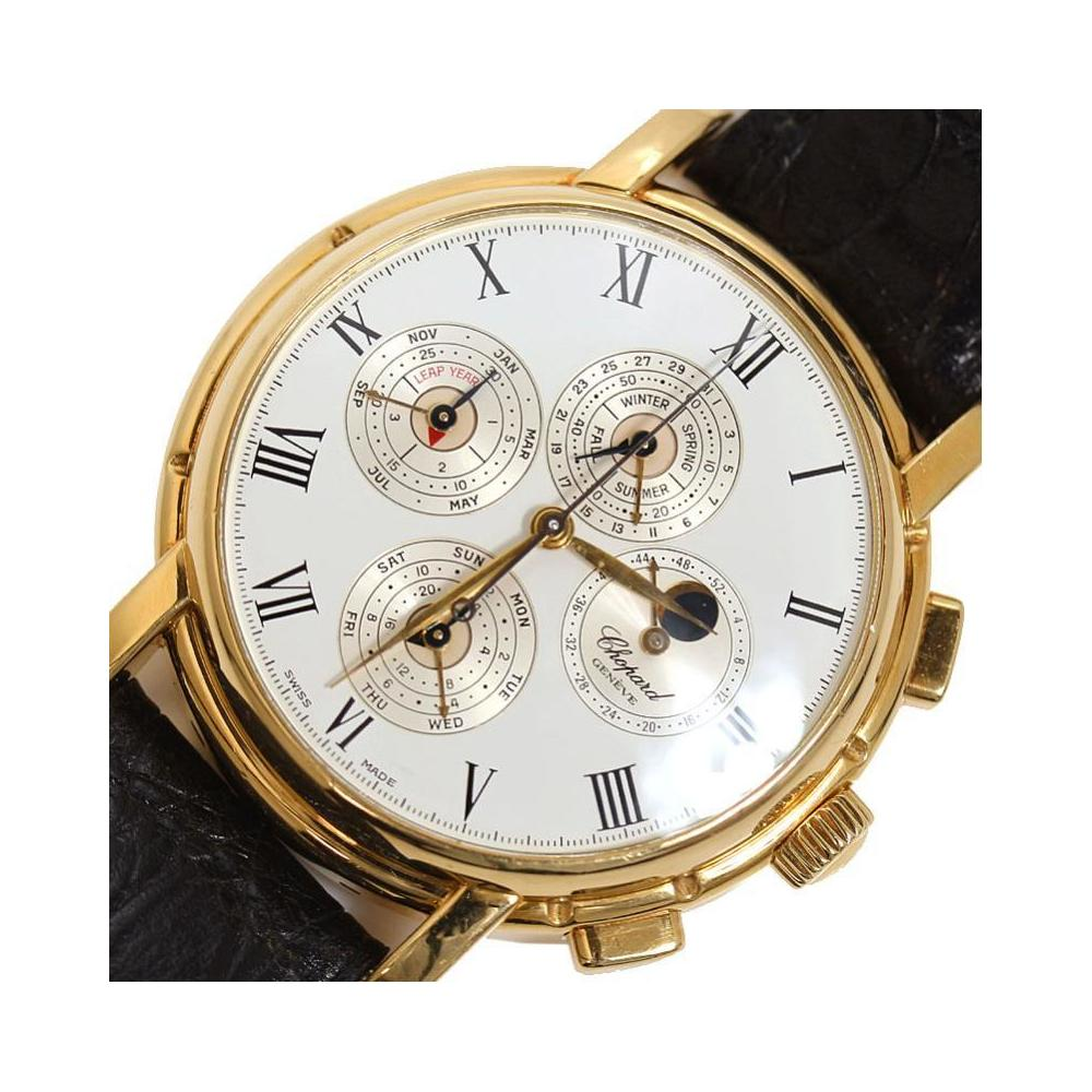 Chopard Classic Perpetual Calendar Chronograph 36 1224 Limited 50 Gold Round Automatic Mens Watch
