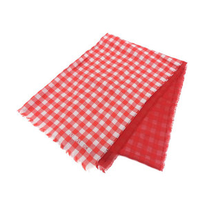 Louis Vuitton Cotton Stole Gray,Red