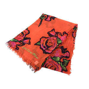 LOUIS VUITTON Louis Vuitton Cashmere Silk Stole Etoll Rose Orange M72380 [20170429]