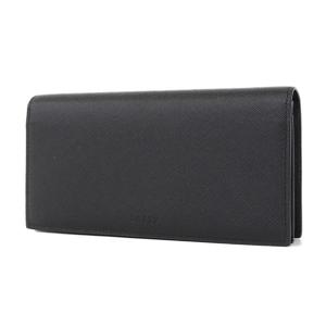 BALLY LEATHER Folded long wallet black [20180313]