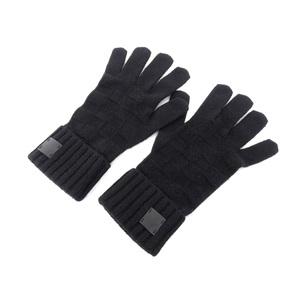 LOUIS VUITTON Louis Vuitton Gompty Damier Cashmere Gloves Glove Knitted Black [20180119]