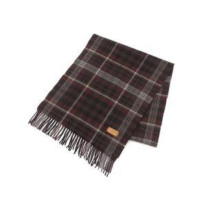 LOUIS VUITTON Louis Vuitton Cashmere Wool Muffler Tartan Check Red [20180111]