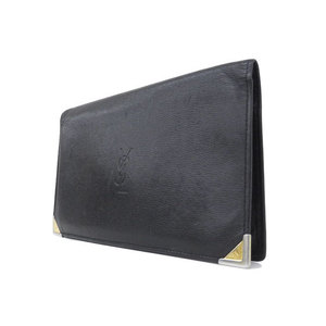YSL Yves Saint Laurent leather wallet black