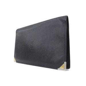 イヴ・サン・ローラン(Yves Saint Laurent) YSL イヴサンローラン レザー 札入れ 長財布 ブラック 黒 革
