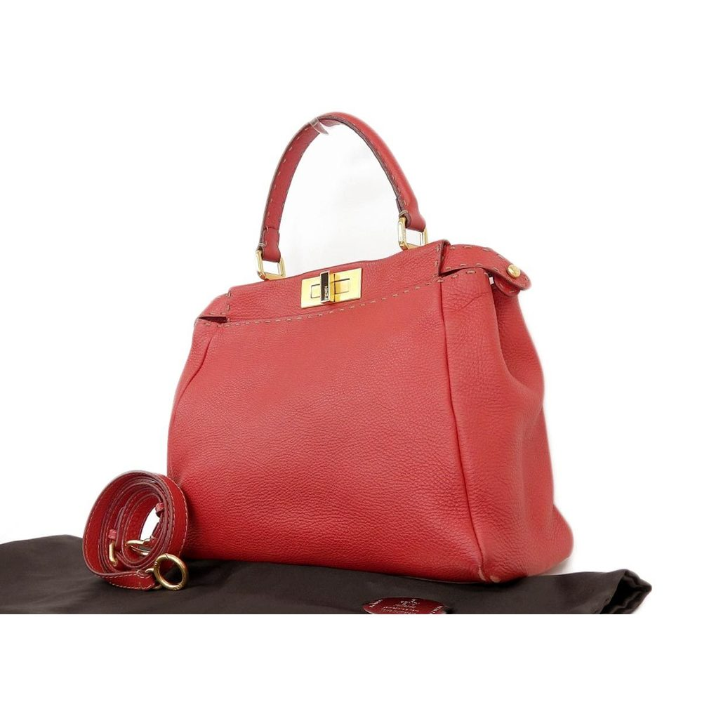 FENDI Fendi Celeria limited 39/50 2way handbag shoulder leather red [20180208]