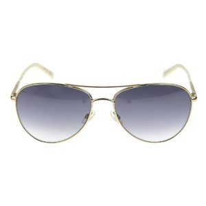 Christian Dior Teardrop Sunglasses Eyewear White Gold 59 □ 16 135 [20180330]