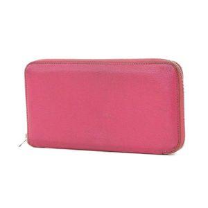 HERMES Hermes shave azap long wallet pink-based fuchsia pink □ engraved L [20180424]