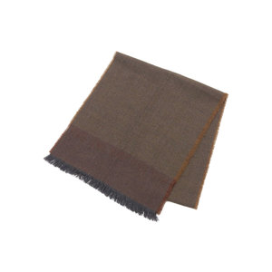 FENDI Fendi wool 100% stall muffler Brown [20180119]