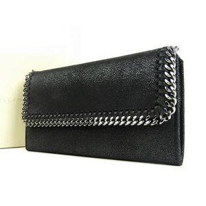 STELLA McCARTNEY Stella McCartney Falabella Continental Wallet Leather Long Bi-Fold Black [20170906]
