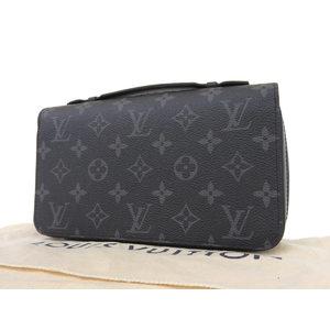 LOUIS VUITTON Louis Vuitton Monogram Eclipse Zippy XL Round Fastener Long Wallet Clutch Second M61698 [20180511]