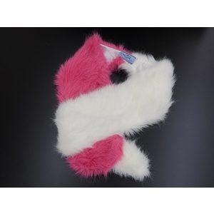 プラダ(Prada) PRADA プラダ レディース ファー付きマフラー ストール バイカラー ピンク ホワイト [20180313]