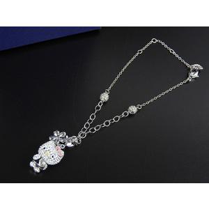 swarovski kitty charm rhinestone key holder silver [20180119]