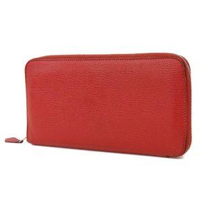 HERMES Hermes shave azap long round zipper wallet rouge guaranse [20180306]