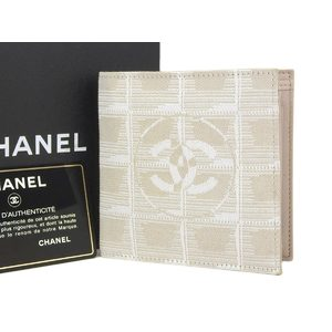 CHANEL Chanel Coco Mark New Travel Line Two-folded wallet compact beige [20180509]