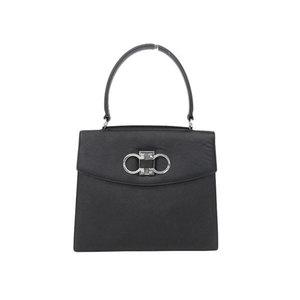 Salvatore Ferragamo Double Gancini Handbag Leather Black [20170726]
