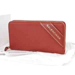 BALENCIA GA Balenciaga logo printed round zip Around length wallet red [20180427]