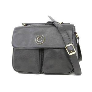 CELINE Celine circle logo 2way handbag shoulder leather black [20180531]