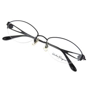 Salvatore Ferragamo Gancini half rim glasses frame Date eyewear black FE1905T [20170925]