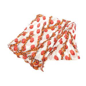 LOUIS VUITTON Louis Vuitton Etole Lamme Dotz Scarf Stole Multicolor White Red Agate M75674 [20180503]