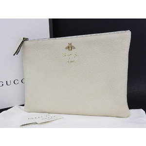 GUCCI Gucci 2017 spring and summer animalia leather clutch bag second white series [20180531]
