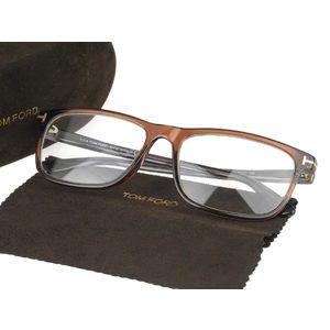 TOM FORD Tom Ford Square frame Date glasses Brown 57 □ 17 145 TF5356 [20180608]
