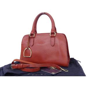 Ralph Lauren PROPRIETOR line Satchel 2 way handbag shoulder leather red [20180622]