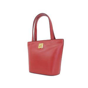 CELINE Celine vintage handbag leather gold hardware red [20180608]