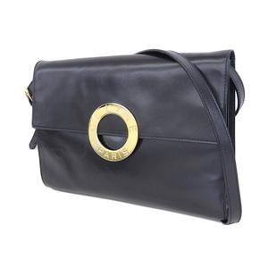 CELINE Celine Circle Logo Vintage Shoulder Bag Clutch 紺 Dark Navy [20180710]
