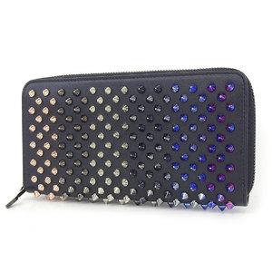 ChristianLouboutin Christian Louboutin Panettone round zipper wallet multi-colored studded black [20180705]