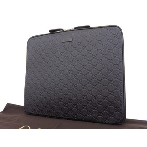 GUCCI Gucci Guccisima PC Case Tablet iPad Ipad Leather Dark Brown Document Paper Clutch [20180608]