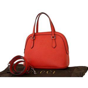 GUCCI Gucci Leather 2way Handbag Shoulder Red 341504 [20180705]
