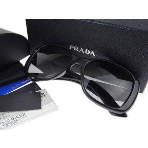 プラダ(Prada) PRADA プラダ バタフライフレーム POLARIZED サングラス アイウェア 黒 ブラック 57□17 1AB-5W1 140 [20180710]