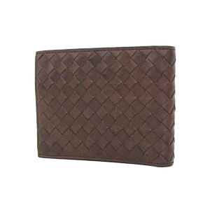 BOTTEGA VENETA Bottega Veneta Intrecherto Two-fold wallet compact brown [20180705]