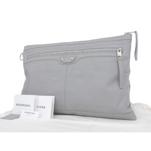 BALENCIA GA Balenciaga Leather Studs Clutch Bag Second Gray [20180802d]