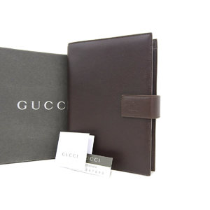 GUCCI Gucci Diary Notebook Cover Leather Dark Brown [20180712]