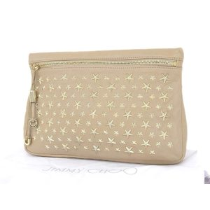 JIMMY CHOO Jimmy Choo Star Studs Clutch Bag Second Beige [20180731d]
