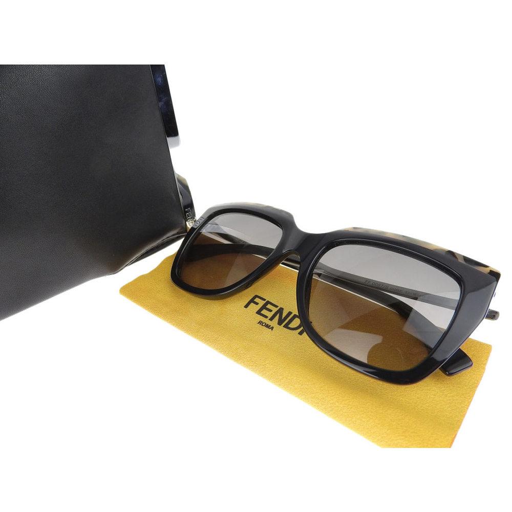 FENDI Fendi Sunglasses Eyewear Black Beige 53 □ 19 FF 0087 / S [20180802d]