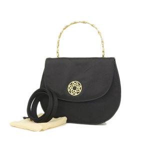 CELINE Celine vintage 2WAY handbag shoulder black gold hardware [20180712]