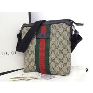 GUCCI Gucci GG Supreme Shoulder Bag Web Flat Messenger 471454 [20180705]