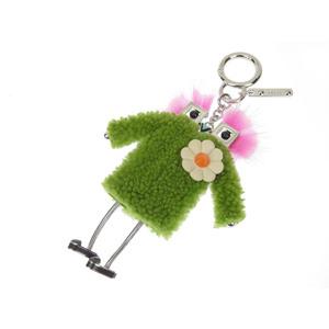 FENDI Fendi Mink Fur Witch Monster Bag Charm Green Pink [20180731a]