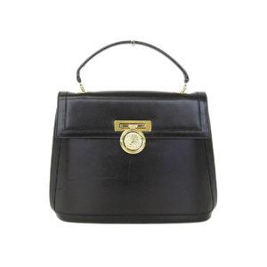 CELINE Celine gold hardware vintage leather handbag black [20180808]