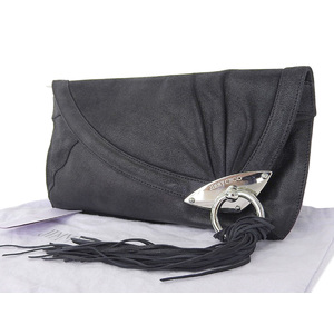 Jimmy Choo Leather Clutch Bag Black
