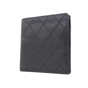 CHANEL Chanel Bikolore Matrasse stitched two-fold wallet black [20180824]