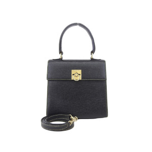 CELINE Celine vintage 2WAY handbag shoulder black [20180824]
